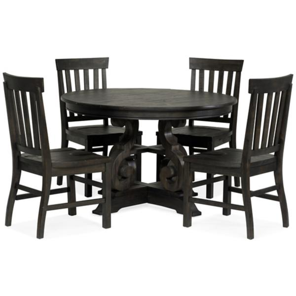 Treble II 5 Piece 48inch Round Dining Table Set