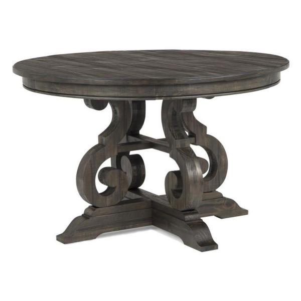 Treble II 5 Piece 48 Inch Round Dining Table Set - PEPPERCORN