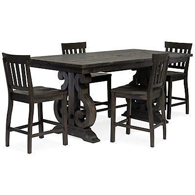 Treble II 5 Piece Counter Height Dining Table Set