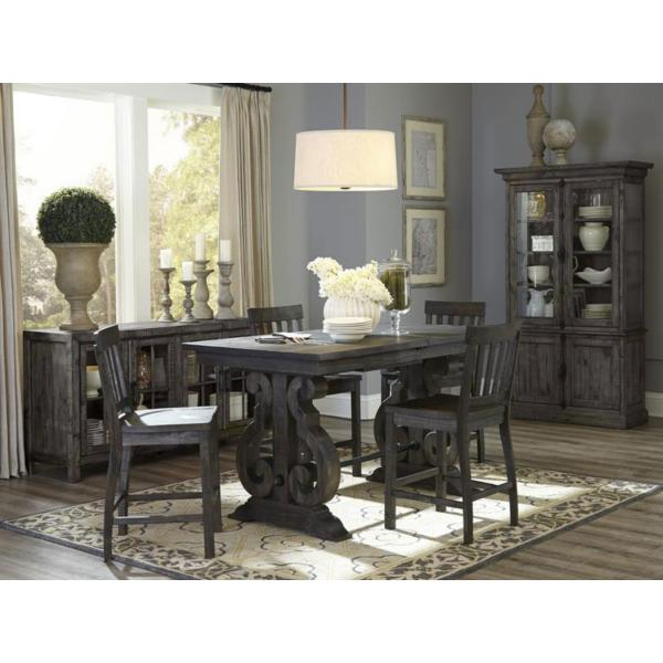 Treble II 5 Piece Counter Height Dining Table Set - PEPPERCORN