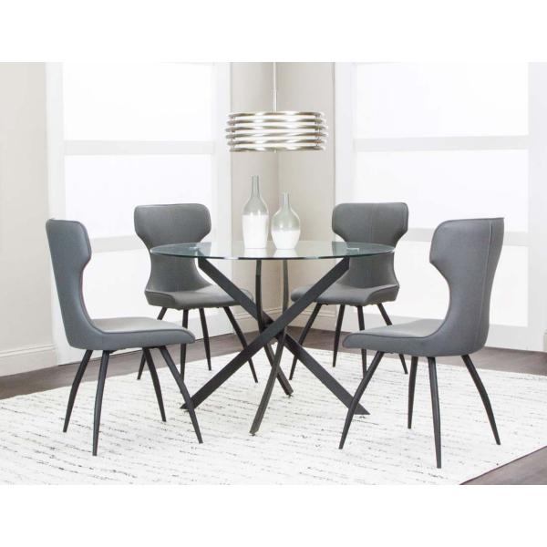 Eclipse 5 Piece Charcoal Dining Set