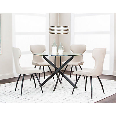 Eclipse 5 Piece Taupe Dining Set