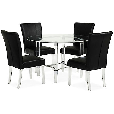 Aries 5 Piece Black Dining Set