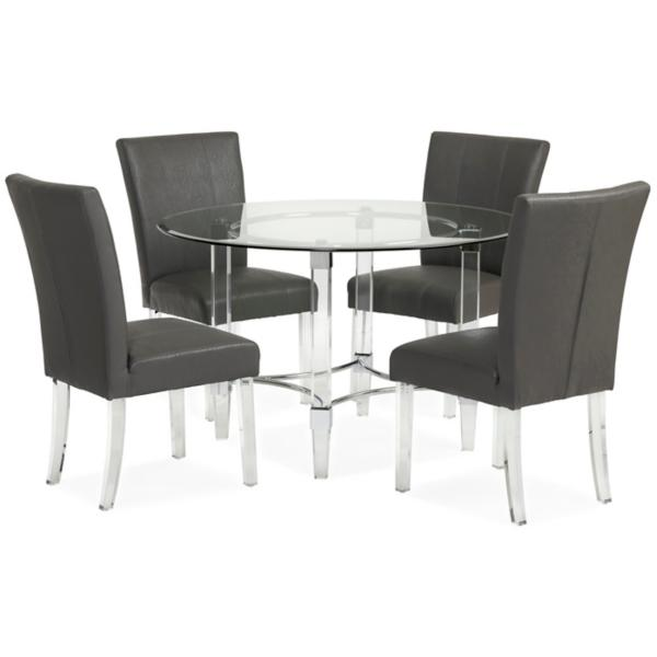Aries 5 Piece Dining Set - GREY