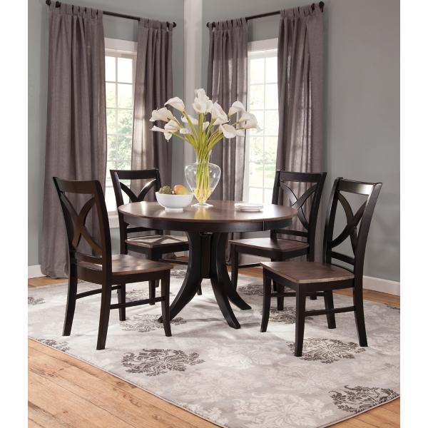 Cosmopolitan 5 Piece Coal/Black Dining Set