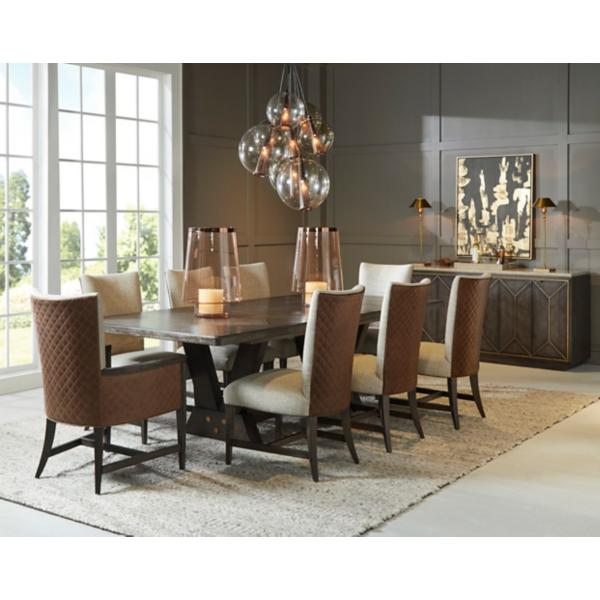 Woodwright 5 Piece Upholstered Trestle Dining Set