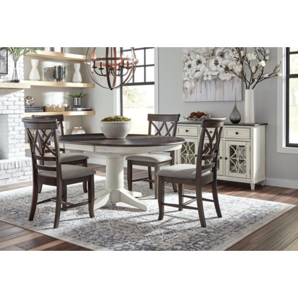Lacy 5 Piece Round Black Dining Set