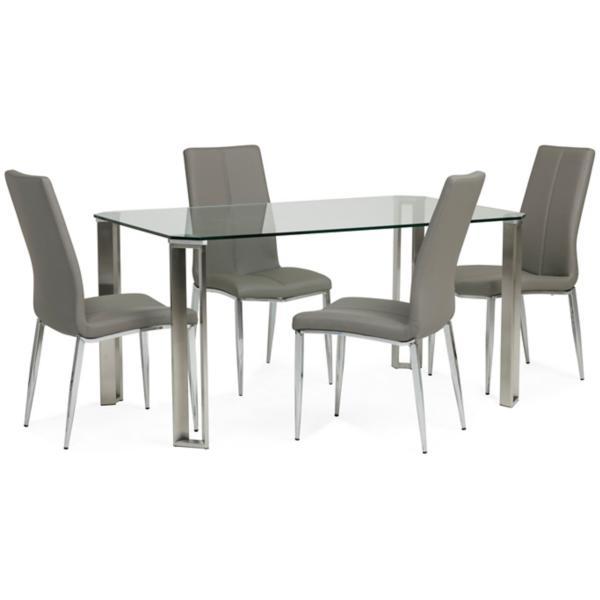 Rhonda 5 Piece Grey Dining Set