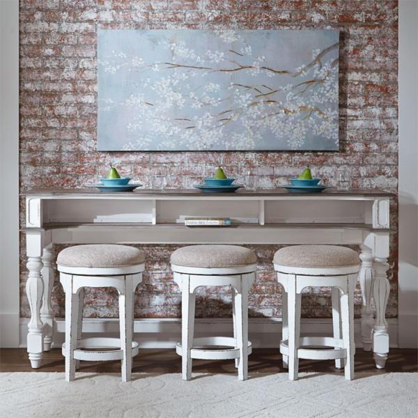 Magnolia Manor 4PC Console Bar Table with Stools