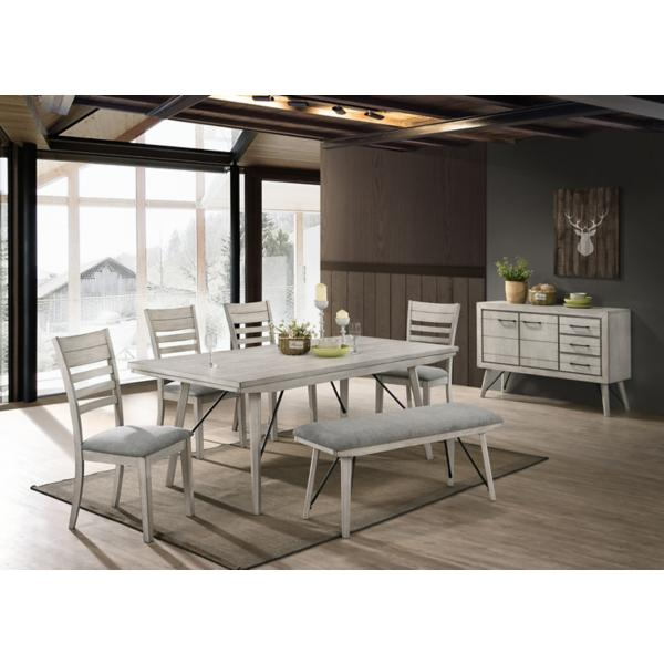 White Sands 5 Piece Dining Set