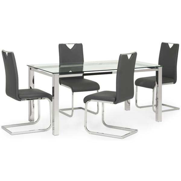 Skyline 5-PC Charcoal Dining Set