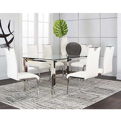 Skyline 5PC White Dining Set
