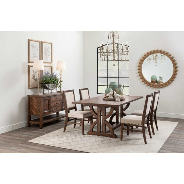 Fairview 5 Piece Rectangular Dining Set - DARK OAK
