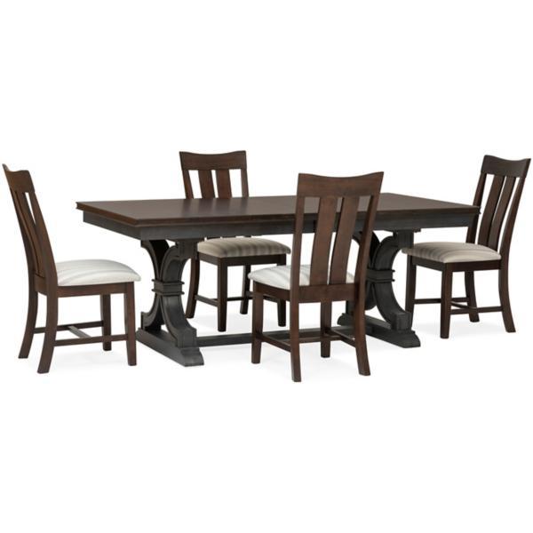 Sonoma Trestle 5 Piece Dining Set - TRUFFLE
