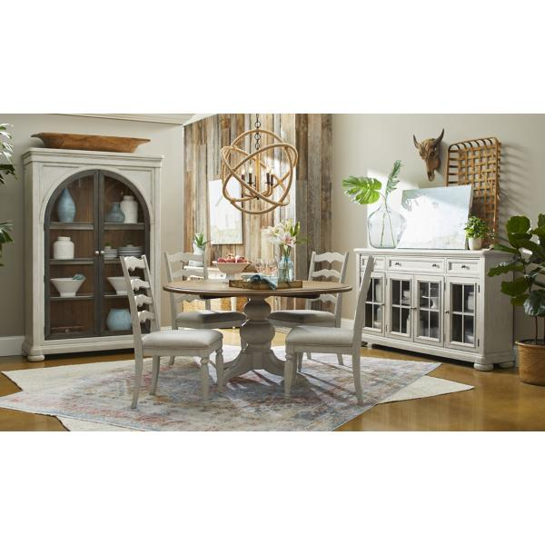 Trisha Yearwood Nashville 5PC Round Table Dining White Set - WHITE