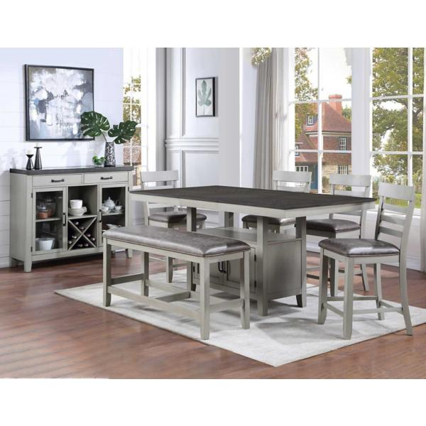 Hyland 5 Piece Counter Height Dining Set