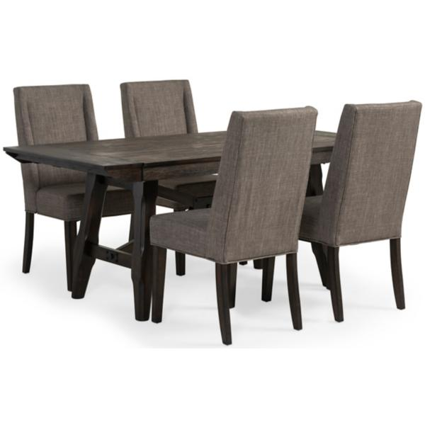 Double Bridge 5 Piece Dining Set W/Upholstered Side Chair