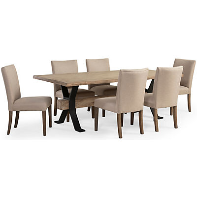 Logan 5 Piece Dining Set W/Biscuit Upholstered Side Chair
