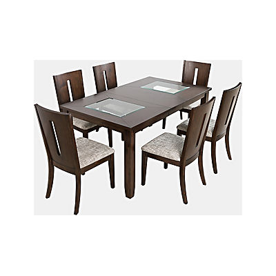 Arden 5 Piece Rectangular Dining Set - Merlot