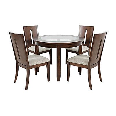 Arden 5 Piece Round Dining Set - Merlot