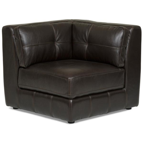 Penthouse Leather 6-Piece Modular Sectional - JAVA