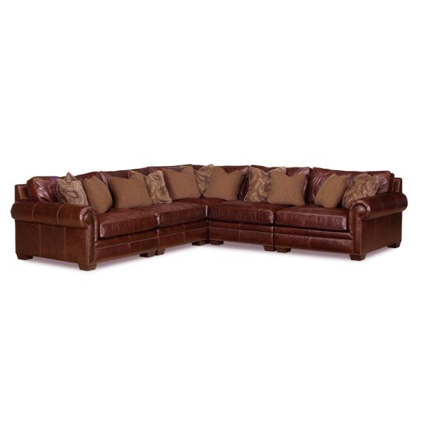 Grandview Leather 5 Piece Modular Sectional
