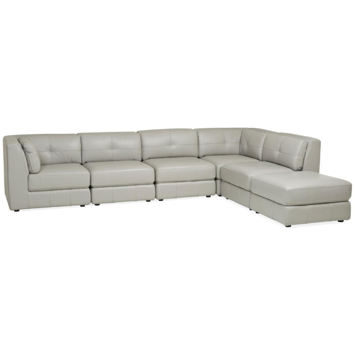Leather 6 Piece Modular Sectional