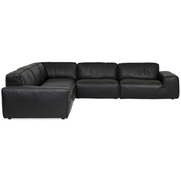 Max Leather 5-Piece Modular Sectional