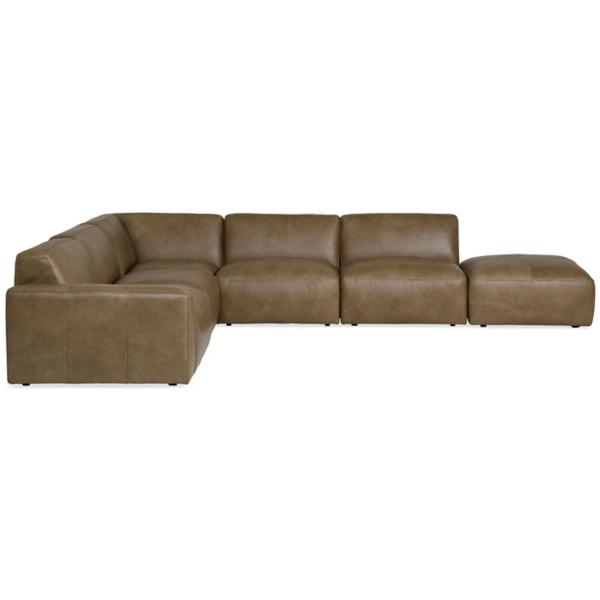 Phoenix Leather 6-Piece Modular Sectional