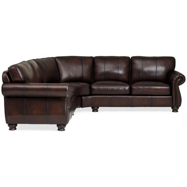Vaughn Leather 2-Piece Sectional