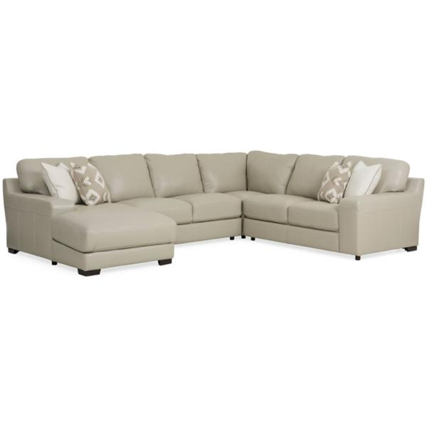 Marcus Leather 4 Piece Chaise Sectional (LAF)
