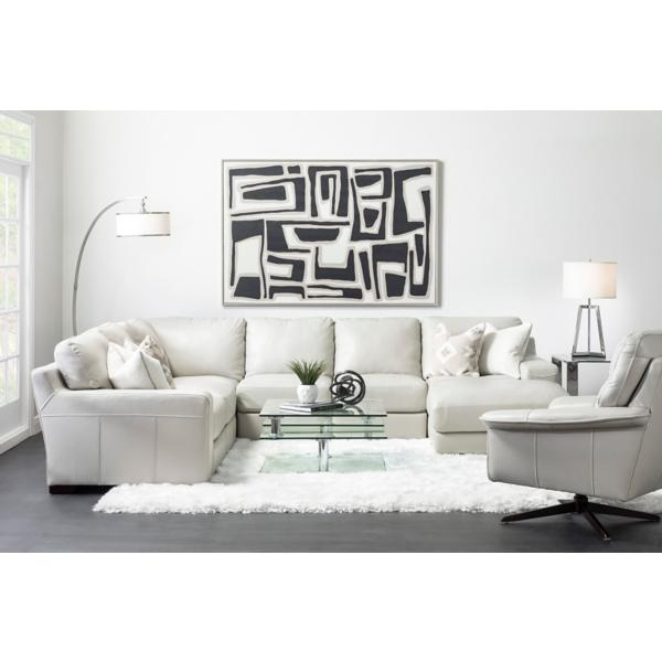 Marcus Leather 4 Piece Chaise Sectional (RAF)