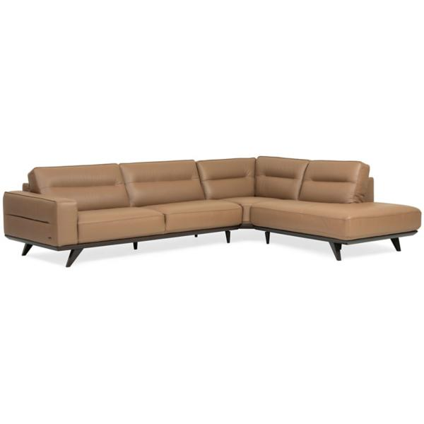 Lina Leather 3 Piece Sectional - RSF