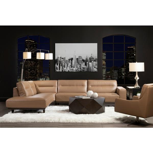 Lina Leather 3 Piece Sectional - LSF