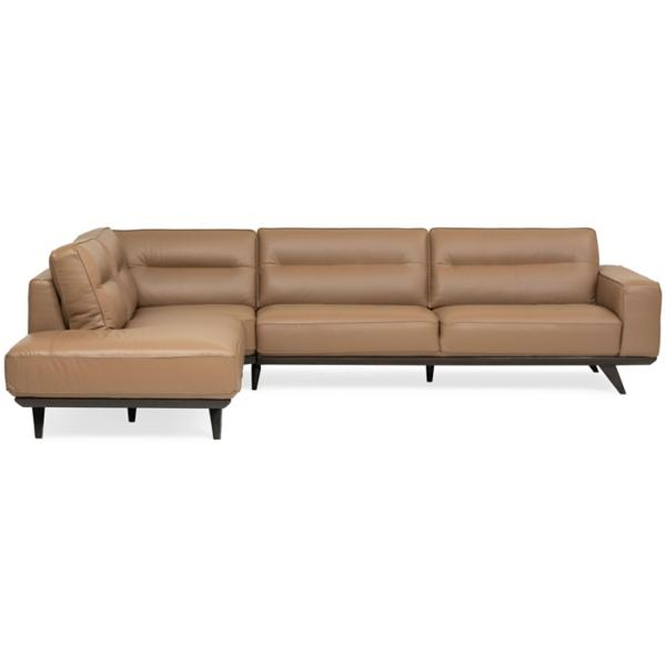 Lina Leather 3-Piece Sectional - LSF