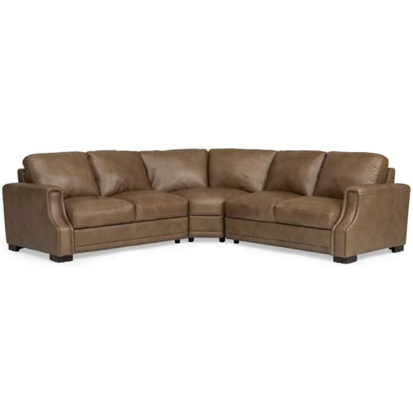 Hancock Leather 3 Piece Sectional