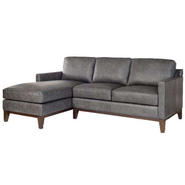 Harlow Leather 2-Piece Chaise Sectional - LAF
