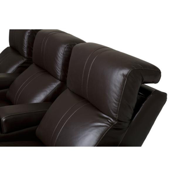 Flick 3-Seat Home Theatre Seating - BROWN