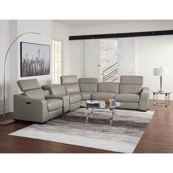 Ferrari Leather 6 Piece Modular Power Reclining Sectional