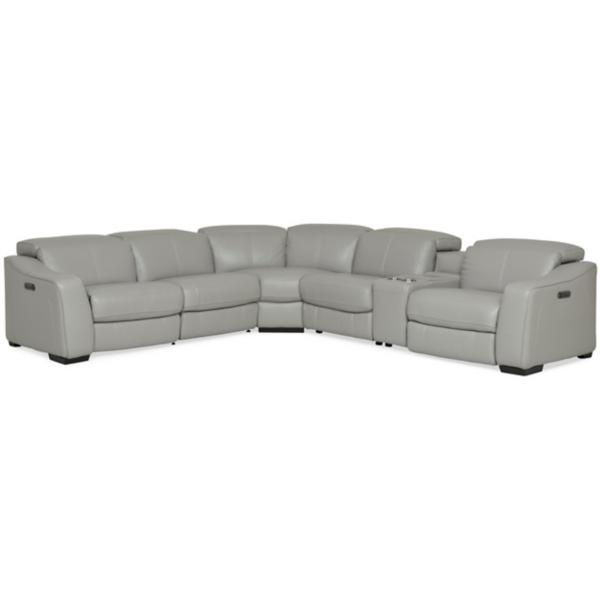 Ferrari Leather 6-Piece Modular Power Reclining Sectional