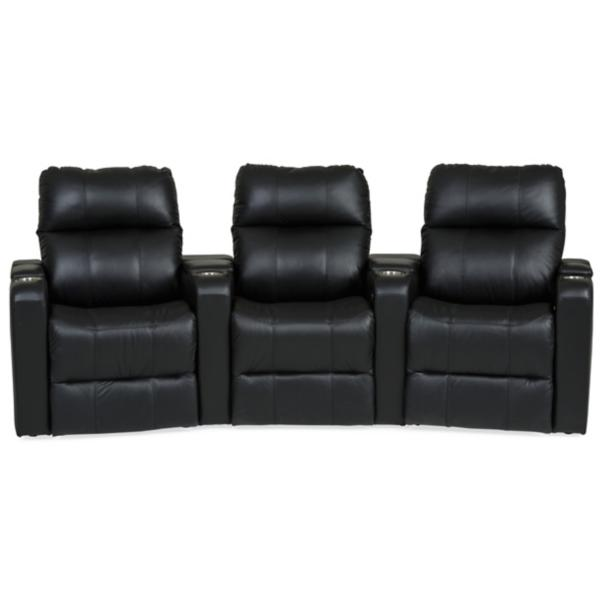 Soundtrack Leather Power Reclining Home Theater Sectional - JET