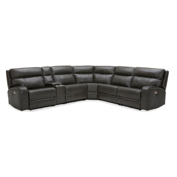 Greyson Leather 6-Piece Modular Power Reclining Sectional