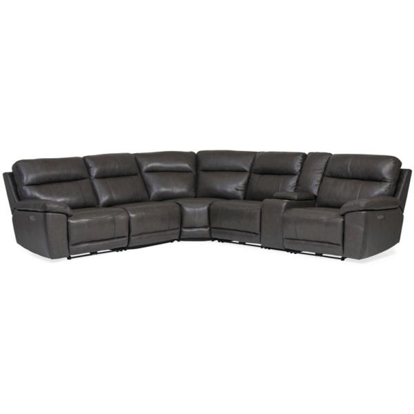 Martin Leather 6-Piece Power Reclining Sectional