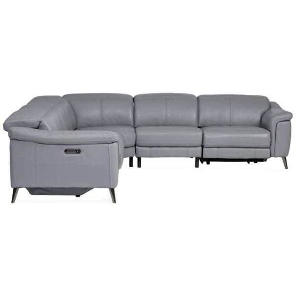 Orly Leather 5 Piece Modular Power Reclining Sectional