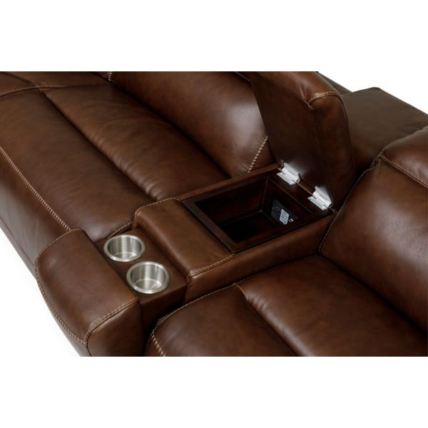 Reed Leather 6 Piece Power Modular Sectional