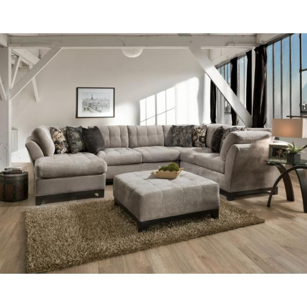 Gotham 3-Piece Chaise Sectional (LAF) - GRANITE
