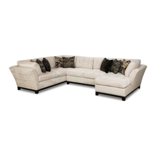 Gotham 3-Piece Chaise Sectional (RAF) - QUARTZ