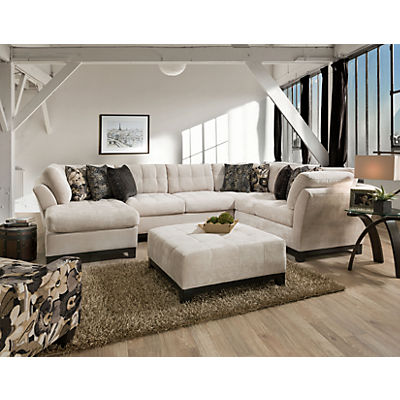 Gotham 3-Piece Chaise Sectional (LAF) - QUARTZ