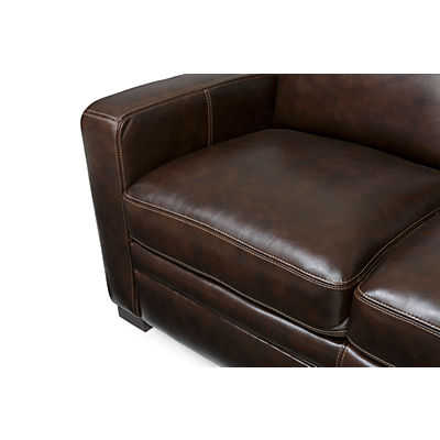 Dillon Leather 4-Piece Sectional (RAF)