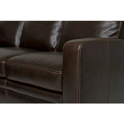 Dillon Leather 4-Piece Chaise Sectional (LAF)